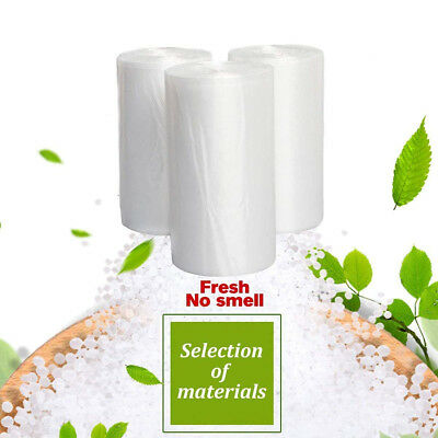 45 Strong 13Gallon Commercial Kitchen Trash Garbage Bag Yard Clear White US Ship