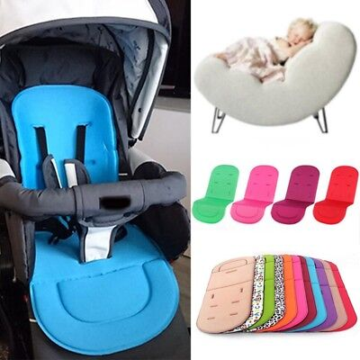 1xBaby Stroller Liner Reversible Car Seat Mat Pad Cushion 100% Cotton Microfiber
