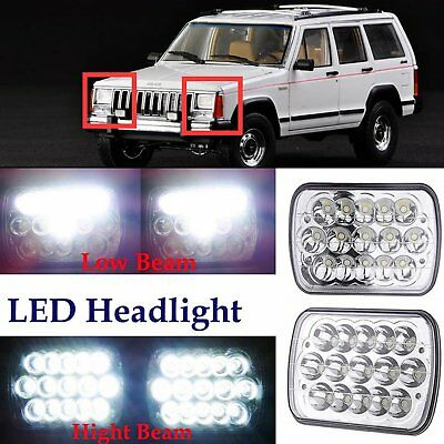 1 Pair 7x6 LED Headlights HID Light Bulbs Crystal Clear Sealed Beam Headlamp EK