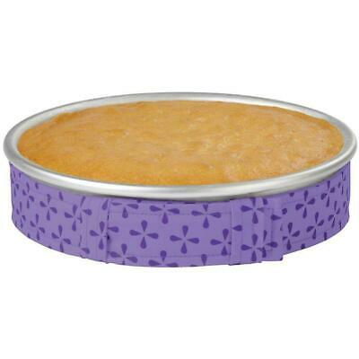 WILTON BAKE EVEN STRIPS Set of 1   PURPLE   Bake Moist Level Cakes Every Time