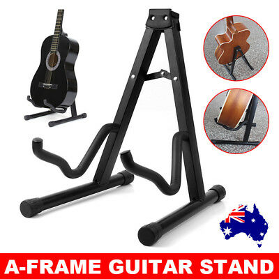 Folding Electric Acoustic Bass Guitar Stand A Frame Floor Rack Holder Portable