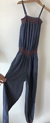 Girls New Look Age 9 Chambray Summer Vest Jumpsuit Playsuit Outfit