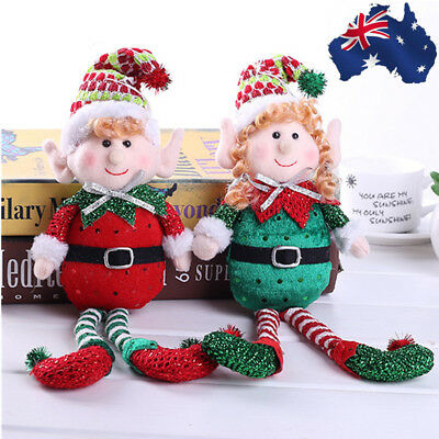 AU! Cute Long-Legged Elf Christmas Doll Gift Doll Christmas Tree Decoration Xmas