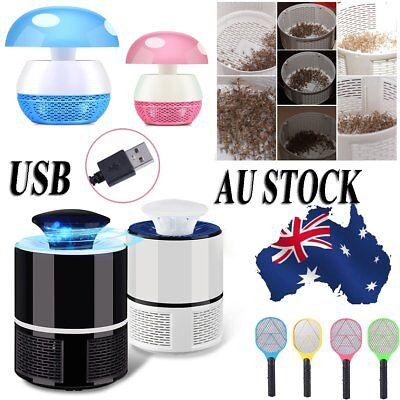 Electric Swatter Mosquito Killer Fly Pest Bug Insect Trap Zapper LED Lamp Light