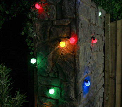 10 Party Colour Festoon Outdoor/Indoor Lights 4.5m with Timer