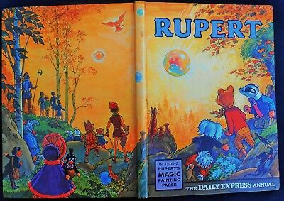Vintage Original 1968 Rupert Bear Annual, Price Unclipped 6/-