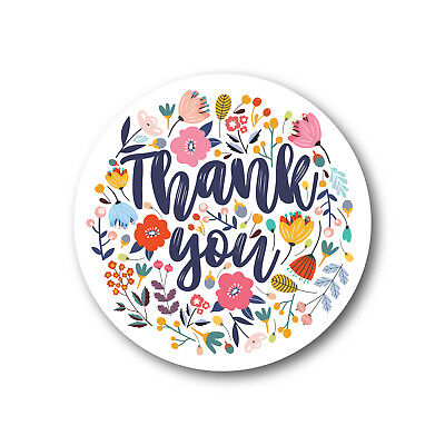 Thank You Floral Botanical Stickers | TY117