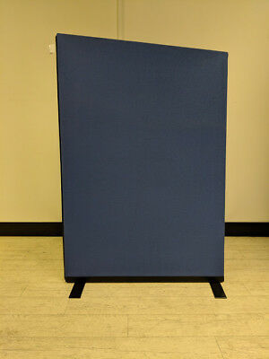 Angled Office Partition Screen 1120mm W Woolmix Cornflower Blue