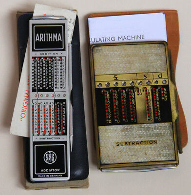 Vintage Mechanical Calculator.  ADDIATOR.  2 off.  Old, Collectable