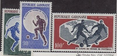 GABON MNH Scott # 195-196, C45 Soccer Football (3 Stamps)