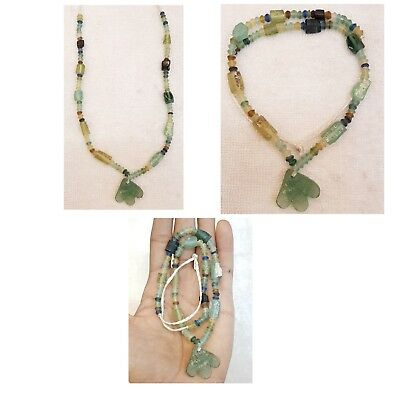 Excellent Ancient Roman Glass Beautiful Beads Shape Amazing Necklace   # 28 RGbn