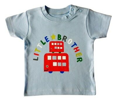 Baby Boy's Kids Little Brother T Shirt Blue Top Nutmeg 3 6 9 12 Months SALE