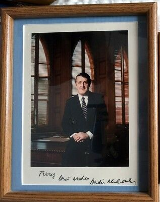 Brian Mulroney Pm Canada Personally Signed-Nicely Framed-Great Provenance
