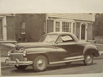 1947 DODGE BUSINESS COUPE, Card No. 82-B, b&w car dealership postcard