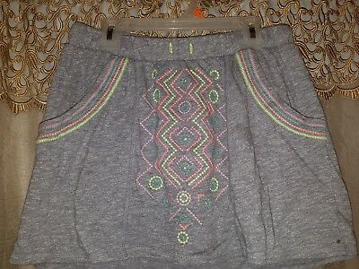 Girls Size XL (14/16) Gray w/Pastel Stitch Skort by Cat and Jack-Cute and Comfy!