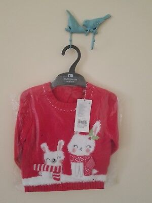 Baby Girls Christmas Jumper 18-24 BNWT Mothercare