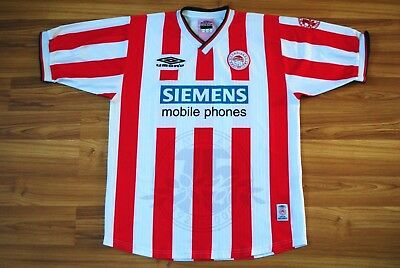 494ff402e Olympiacos Fc Greece 2000 2001 Umbro Home Football Soccer Shirt Jersey  Vintage