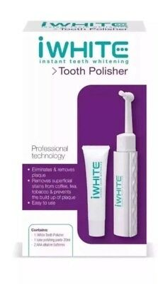 iWHITE Instant teeth whitening Professional Tooth Polisher Kit New & Sealed