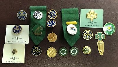 18- Vintage Girl Scout Pin Lot Daisy Girl