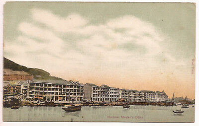 c1901 POSTCARD CHINA HARBOR MASTER'S OFFICE WEST POINT - HONG  KONG