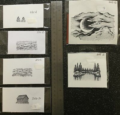 Unmounted Rubber Stamps x 6 New