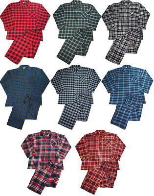 NORTY Mens Flannel 2 Piece Pajama Sets - 100% Brushed Cotton Flannel - 8 Prints