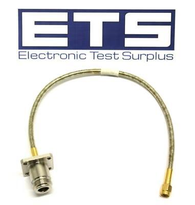 "12"" Semi-Rigid Type N Female Bulkhead Adapter To SMA Male Coax Cable"