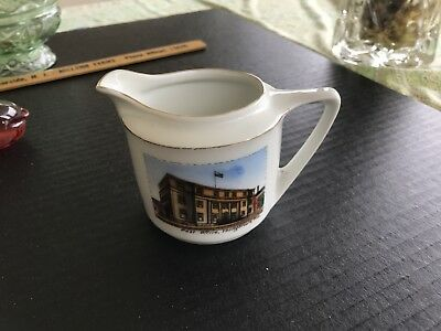 Vintage Germany Souvenir Youngstown Ohio Post Office Creamer Slocum China