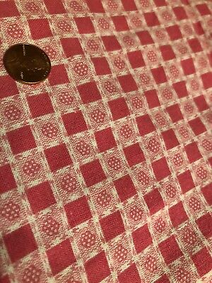 UNOPENED VINTAGE FEEDSACK FABRIC  MATERIAL BEAUTIFUL PINK * 2 Big Cuts In It*