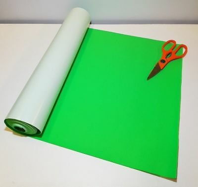 BAIZE 2 Mtrs x 450mm wide roll of MEADOW GREEN STICKY BACK SELF ADHESIVE FELT