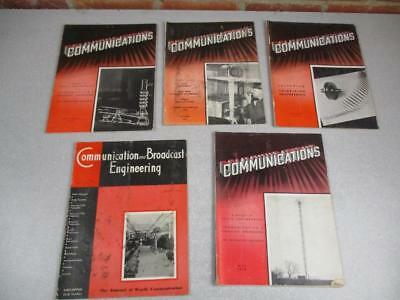 Vintage Communications and Broadcast Engineer Magazines  1936 1938 1939 1942