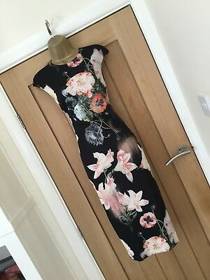 New Ted Baker Candiss Opulent Bloom Pencil Dress Size 8 - RRP £159.00