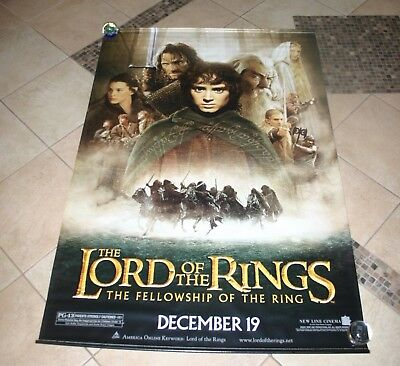 Lord Of The Rings Fellowship of the Ring Movie Banner Vinyl - 72x48