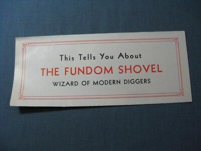 Fundom Hoist & Shovel Company Folder Lima OH 1920
