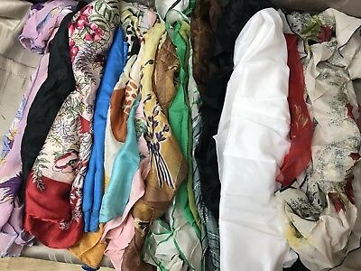 Vintage Silky Material Lot