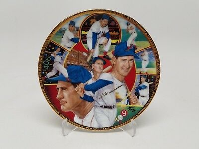 """1990 Sports Impressions Ted Williams """"The Splendid Splinter"""" 4"""" Collector Plate"""