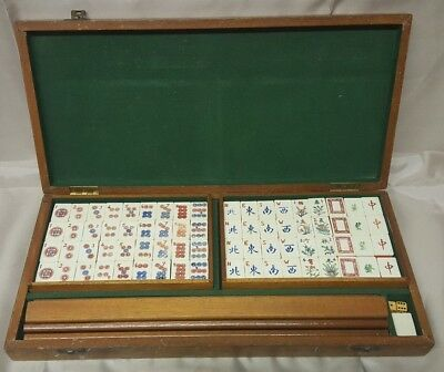 Vintage Chinese Mah Jong Set In Case 1950S Complete