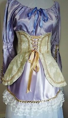 Theatrical costume. Lavender & Gold. Good for Pantomime. Dress & corset.