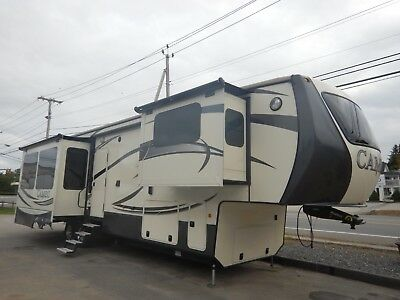 Crossroads Cameo 41ft 5th Wheel 4 Slides Luxury Rear Living Fireplace Loaded 16