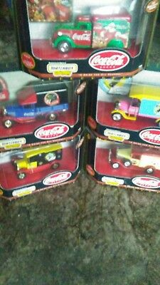 5 Coca cola matchbox collectible trucks Special Holiday Vehicles edition