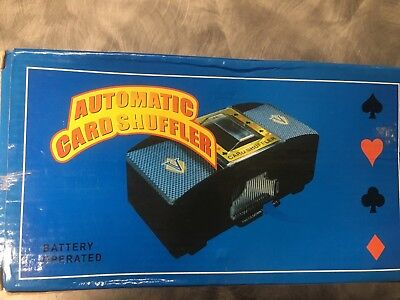 Casino deluxe Automatic 1-2 deck card shuffler NEW IN BOX comes with deck holder