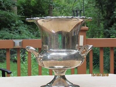 Silver plate Towle two handled Champagne urn