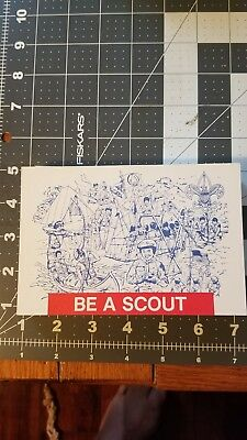BSA Be A Boy Scout Vintage Recruitment Post Card Lot, Troop Invitation, 75 cards