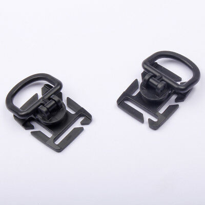 2PCS Plastic Hiking D Ring Buckle Clip Molle Strap 18-25 MM Outdoor Survival EDC