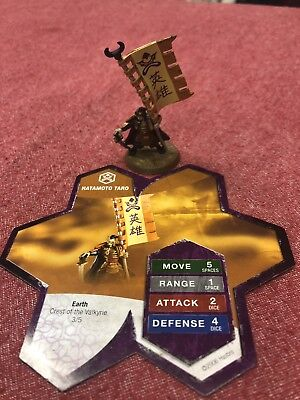 Heroscape- Hatamoto Taro Einar Flag Bearer, Crest of the Valkyrie - No Dice