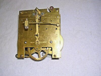 CLOCK  PARTS ,   BRASS CLOCK MOVEMENT,G W O  s