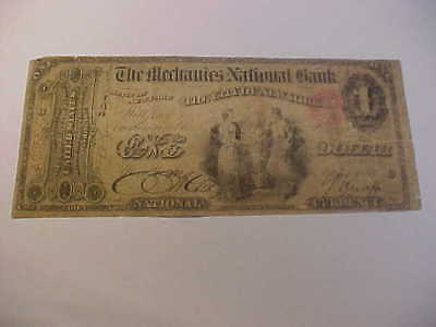 1865 Original Series $1 National Currency Banknote Charter 1250 New York Ny