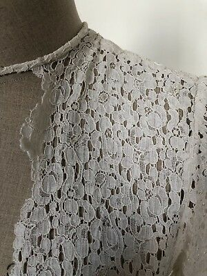 Rare Vintage 1950s Lace Wedding Dress Pleat Occasion Dress One Off White Gown 10