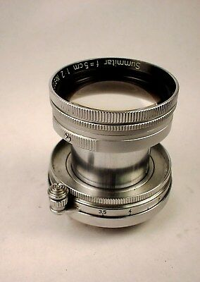 LEICA 50mm f/2 SUMMITAR Collapsible Screw Mount Lens VERY NICE