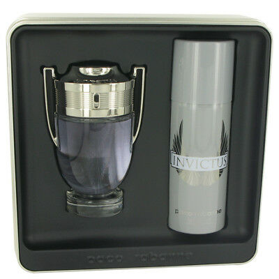 Invictus by Paco Rabanne Gift Set EDT Spray + Deodorant Spray for Men